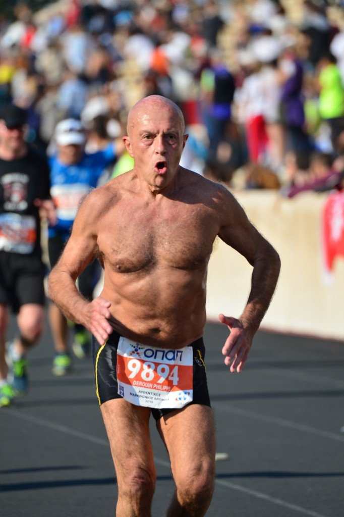 Philippe Derouin - marathon d'Athènes - 8 novembre 2015